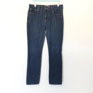 Express Women's Skinny Mid Rise Jeans Dark Wash 10